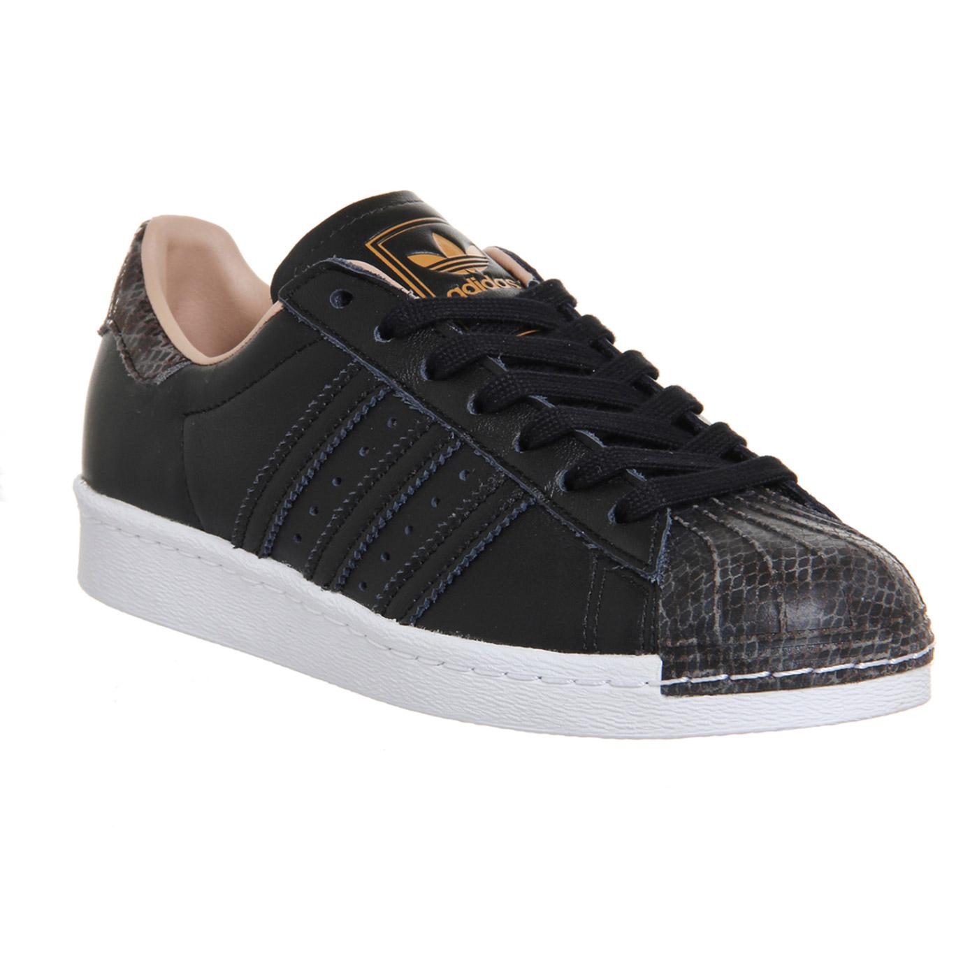 e597d1582954 Adidas Superstar 80s Black Rose Snake Toe Trainers