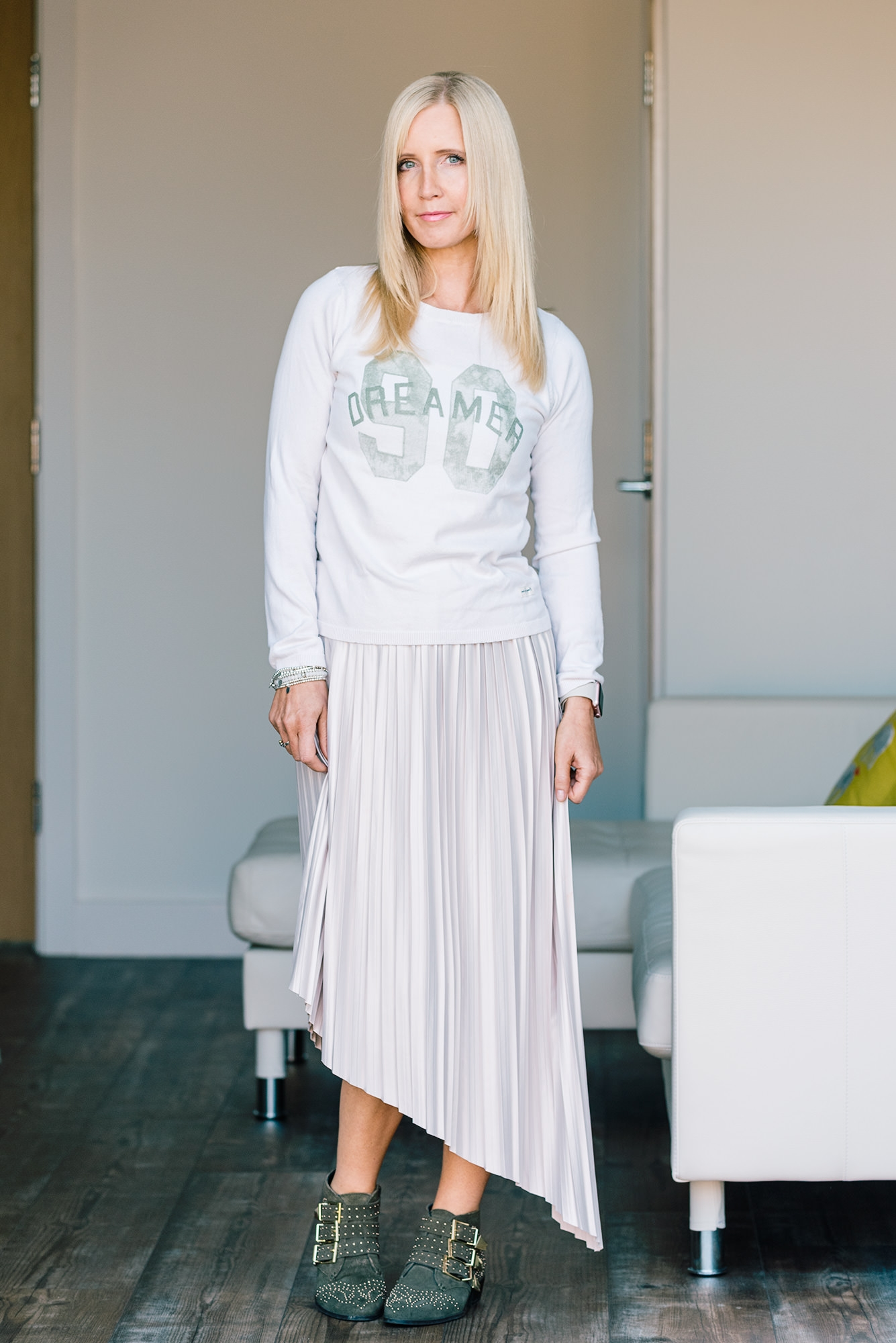 cream-pleated-asymmetric-skirt-by-topshop
