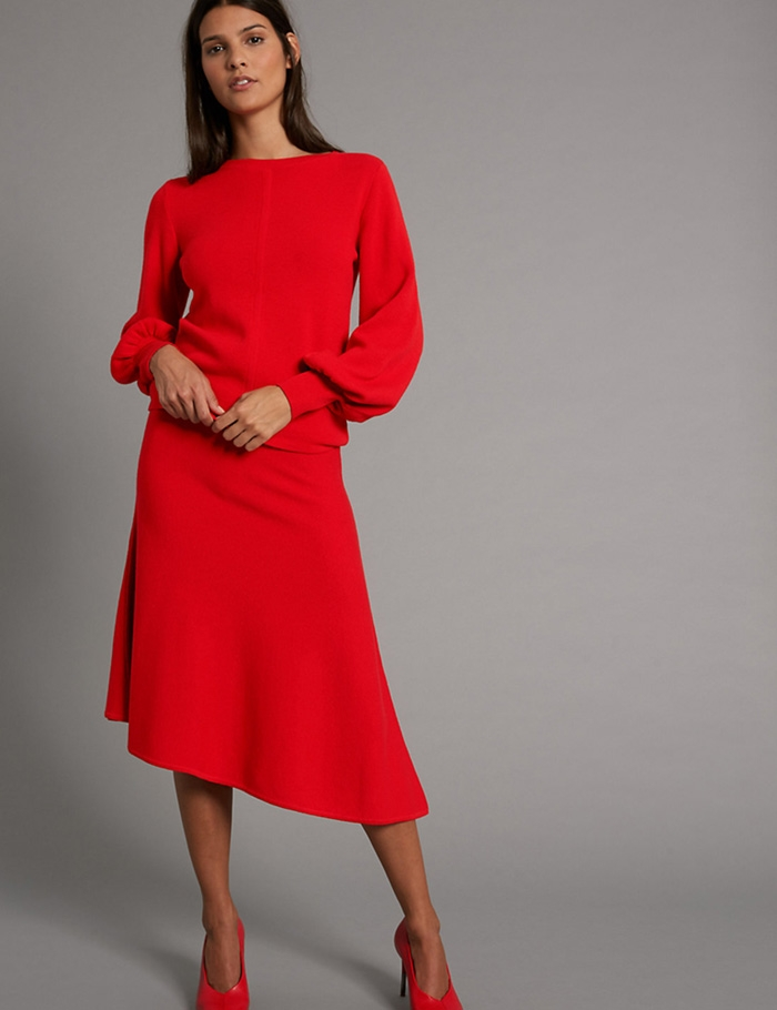 marks-and-spencer-red-skirt